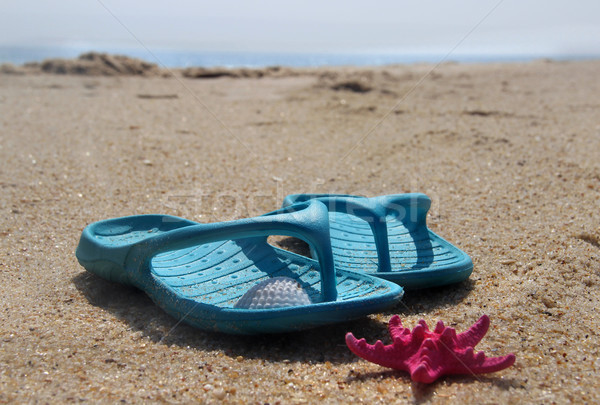 Photo stock: Plage · temps · bleu · chaussures · mer · mode