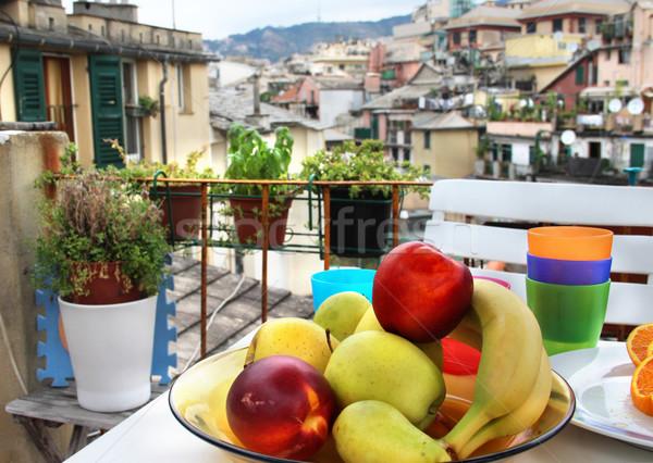 Belle vue Italie fleur design fruits Photo stock © tannjuska