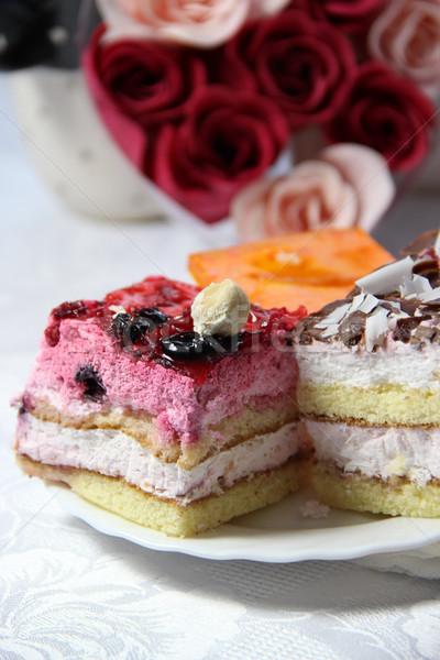 Sweets and roses Stock photo © tannjuska