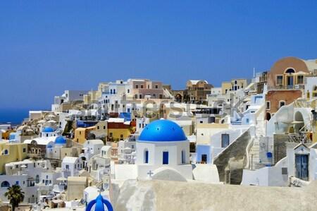 Amazing white houses of Santorini Stock photo © tannjuska