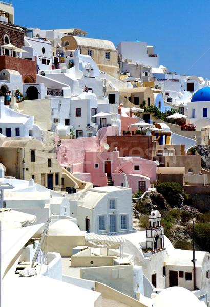 Zdumiewający biały domów santorini Grecja ślub Zdjęcia stock © tannjuska
