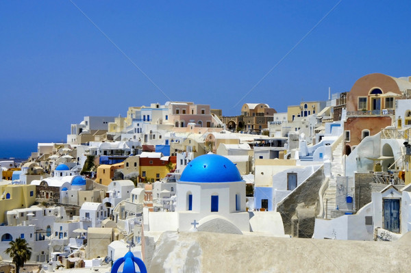 Incredibile bianco case santorini Grecia wedding Foto d'archivio © tannjuska