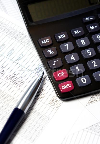 служба таблице калькулятор пер учета документы Сток-фото © tannjuska