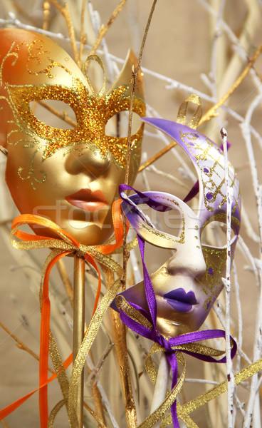 Frumos venetian carnaval masti Venetia Italia Imagine de stoc © tannjuska
