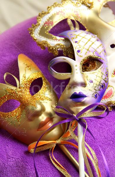 Gyönyörű velencei karnevál maszkok Velence Olaszország Stock fotó © tannjuska