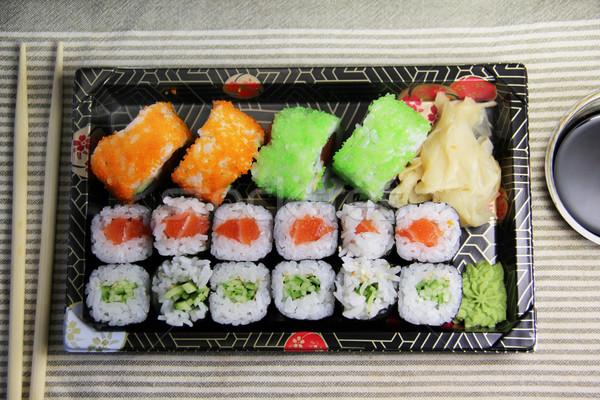 日本語 寿司 表 食品 ストックフォト © tannjuska