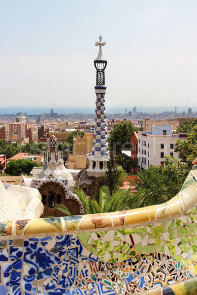 Park Guell in Barcelona, Spain with Gaudi houses  Stock photo © tannjuska