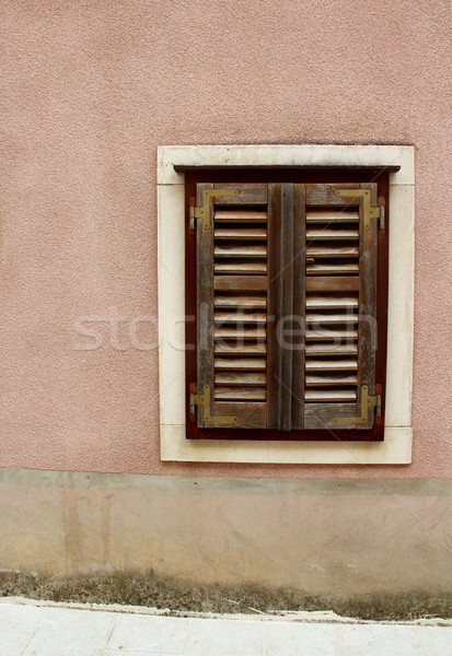 Houses and architecture of Croatian city Ston  Stock photo © tannjuska
