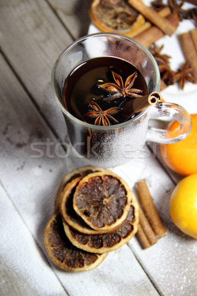 Photo stock: Traditionnel · Noël · bois · séché · oranges · couronne