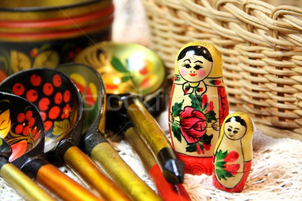 Mix of traditional Russian Souvenirs   Stock photo © tannjuska