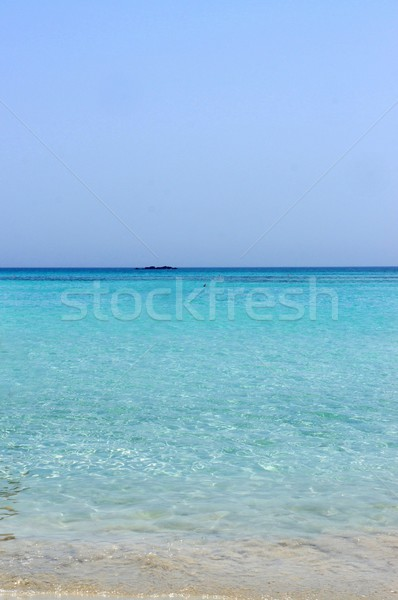 Beautiful turquoise sea and white sand Stock photo © tannjuska