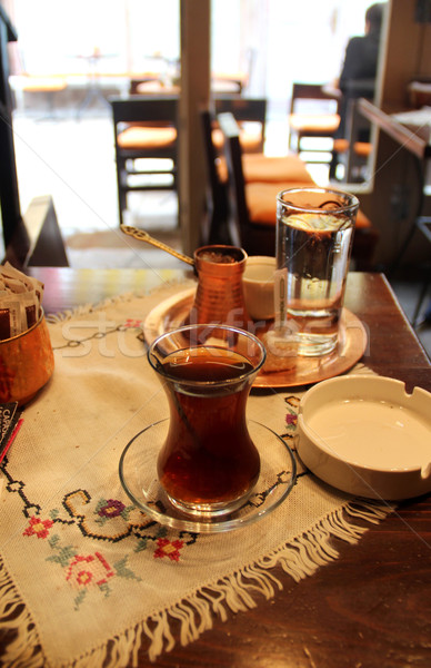 Turkish tea and coffee on the table Stock photo © tannjuska