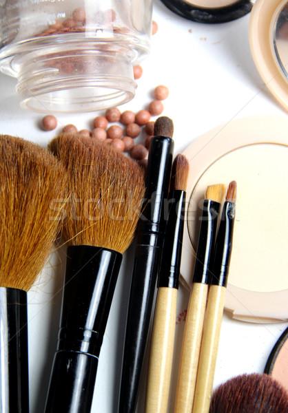 Podziale proszek tle tabeli skóry Zdjęcia stock © tannjuska