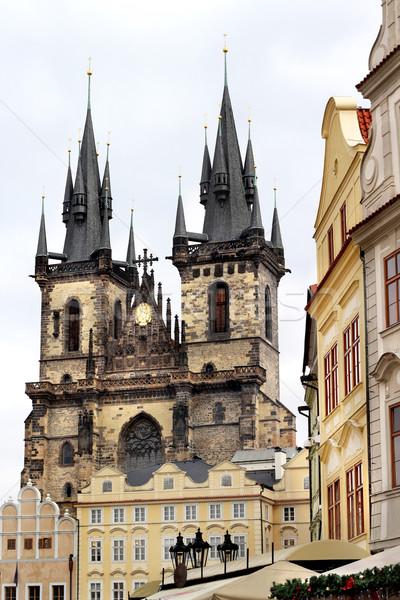 Tyn church in Prague, Czech republic Stock photo © tannjuska