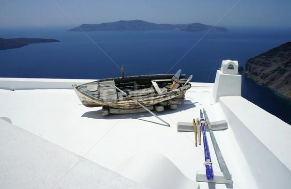 Santorini in details Stock photo © tannjuska
