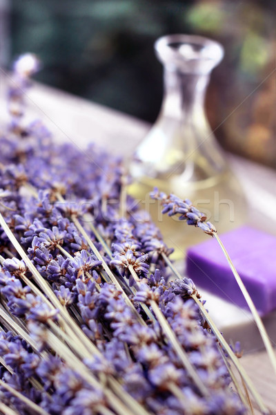 Lavande fleurs cosmétiques bois fleur Photo stock © tannjuska