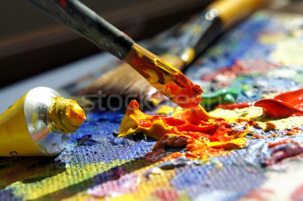 Stock photo: Art palette