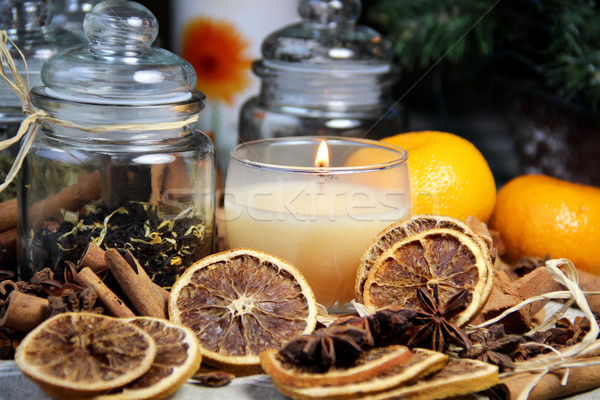 Big mix of Christmas spices  Stock photo © tannjuska