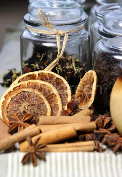茶 シナモン オレンジ 季節の 食品 ストックフォト © tannjuska