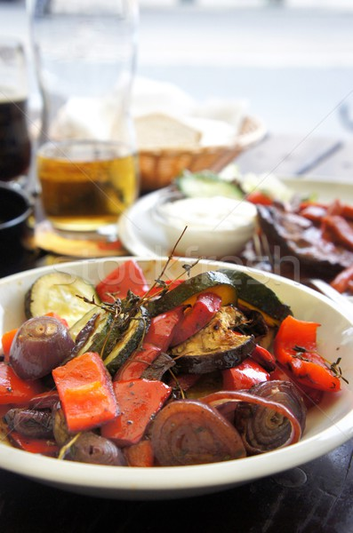 Grilled vegetables with spices  Stock photo © tannjuska