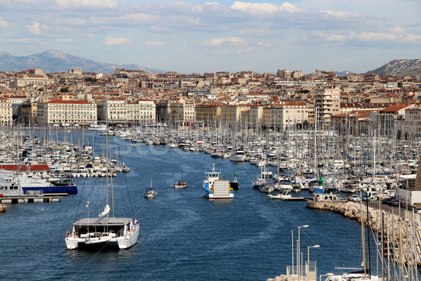 Marseille Franciaország gyönyörű kilátás víz nap Stock fotó © tannjuska