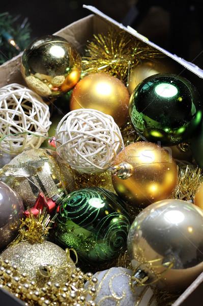 Piękna christmas dekoracji drzewo Zdjęcia stock © tannjuska