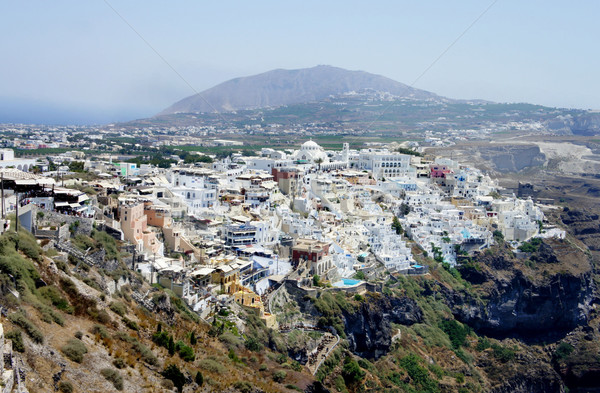 Capital city of Santorini Stock photo © tannjuska