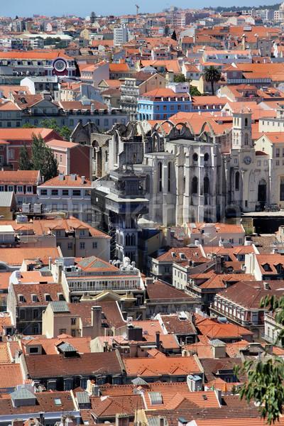Lisboa panorama Portugal ciudad calle iglesia Foto stock © tannjuska