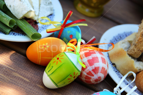 Easter colored eggs  Stock photo © tannjuska