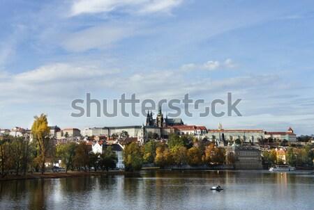 Beautiful panorama of  Prague Castle and Charles bridge Stock photo © tannjuska