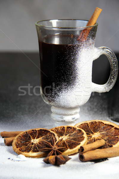 Traditional Christmas punch on the wooden background  Stock photo © tannjuska