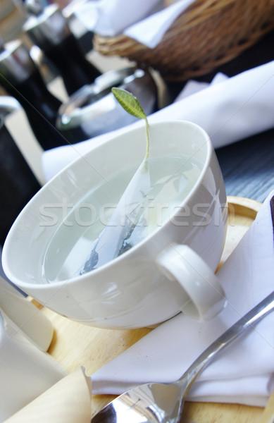 緑茶 面白い 茶 袋 背景 レストラン ストックフォト © tannjuska