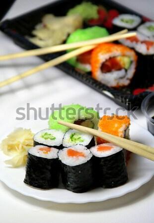 Японский суши таблице продовольствие Сток-фото © tannjuska