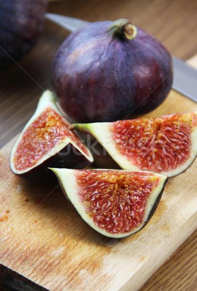 Belle fraîches table table en bois fruits Photo stock © tannjuska