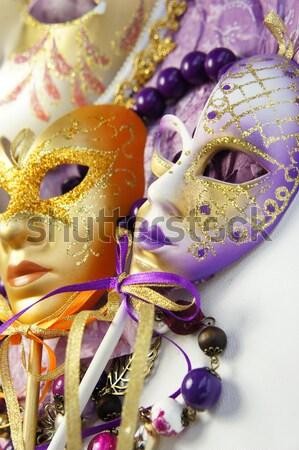 Velencei karnevál maszkok Velence Olaszország gyönyörű Stock fotó © tannjuska