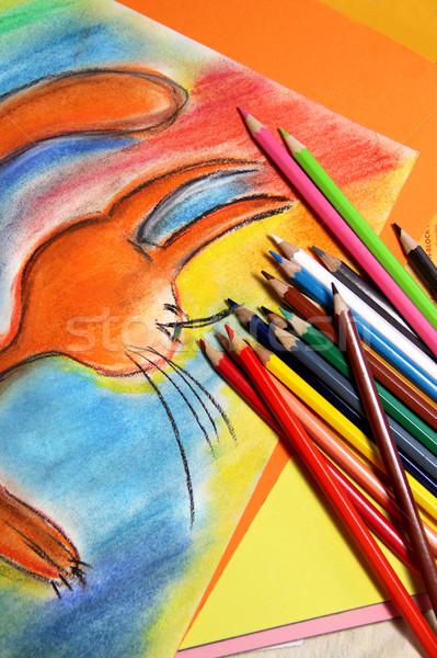 Zdjęcia stock: Wielobarwny · ołówki · żywy · szkoły · projektu