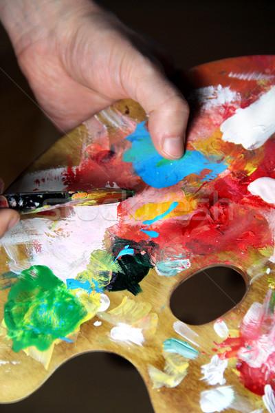 Artista Foto textura mano pintura fondo Foto stock © tannjuska