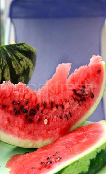 Dojrzały soczysty arbuz piękna żywności owoców Zdjęcia stock © tannjuska