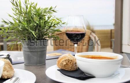 Breakfast on the beach Stock photo © tannjuska