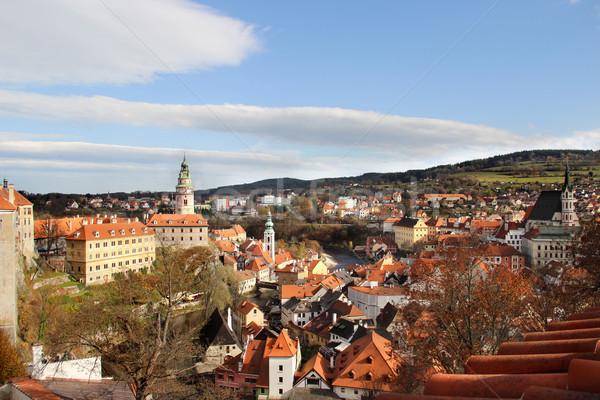 Piękna widoku Czechy unesco dziedzictwo domu Zdjęcia stock © tannjuska