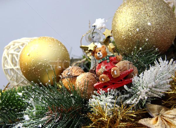 Christmas decoraties beer groot cute Stockfoto © tannjuska