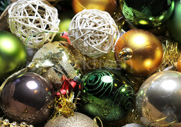 Mix of beautiful Christmas decoration Stock photo © tannjuska