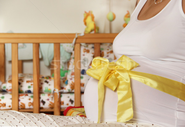 Pregnant woman with a beautiful tummy Stock photo © tannjuska