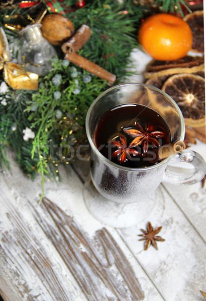 Stock fotó: Hagyományos · karácsony · fából · készült · aszalt · narancsok · koszorú