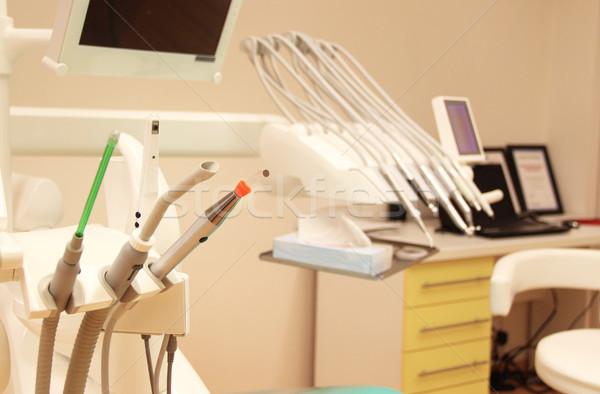 Gyönyörű fogászati klinika iroda munkahely szék Stock fotó © tannjuska