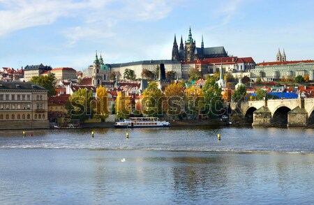 Praha zamek most Czechy piękna panorama Zdjęcia stock © tannjuska