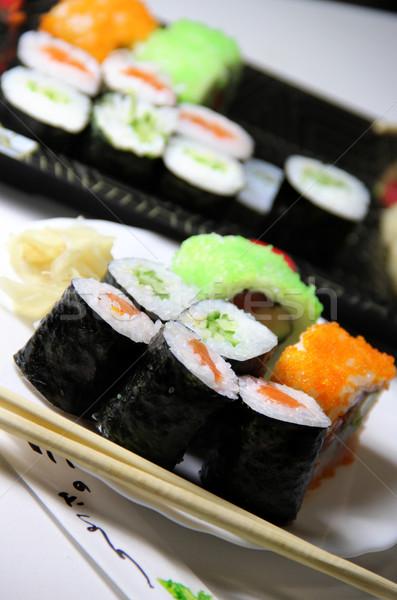 Keverék szusi étel ázsiai főzés étel Stock fotó © tannjuska