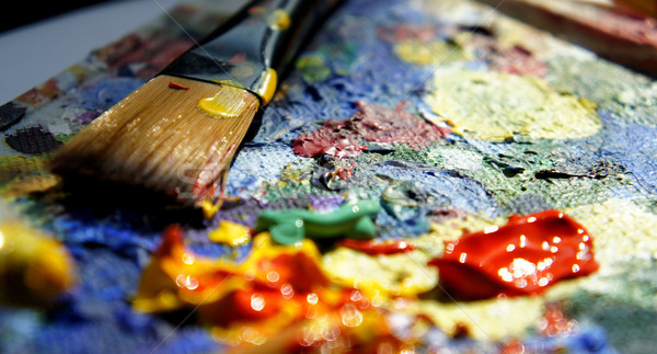 Petróleo pintura pinceles textura pintura Foto stock © tannjuska