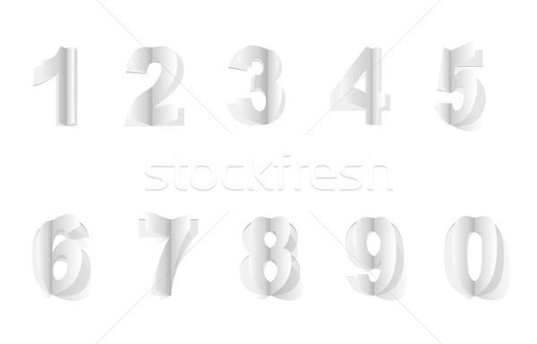 Nummers gesneden papier volume frame teken Stockfoto © tanya_ivanchuk