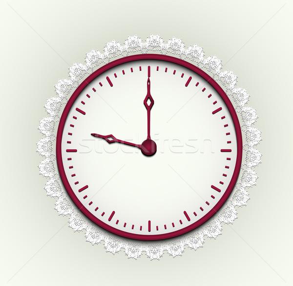Romantische horloge rond klok tijd Rood Stockfoto © tanya_ivanchuk